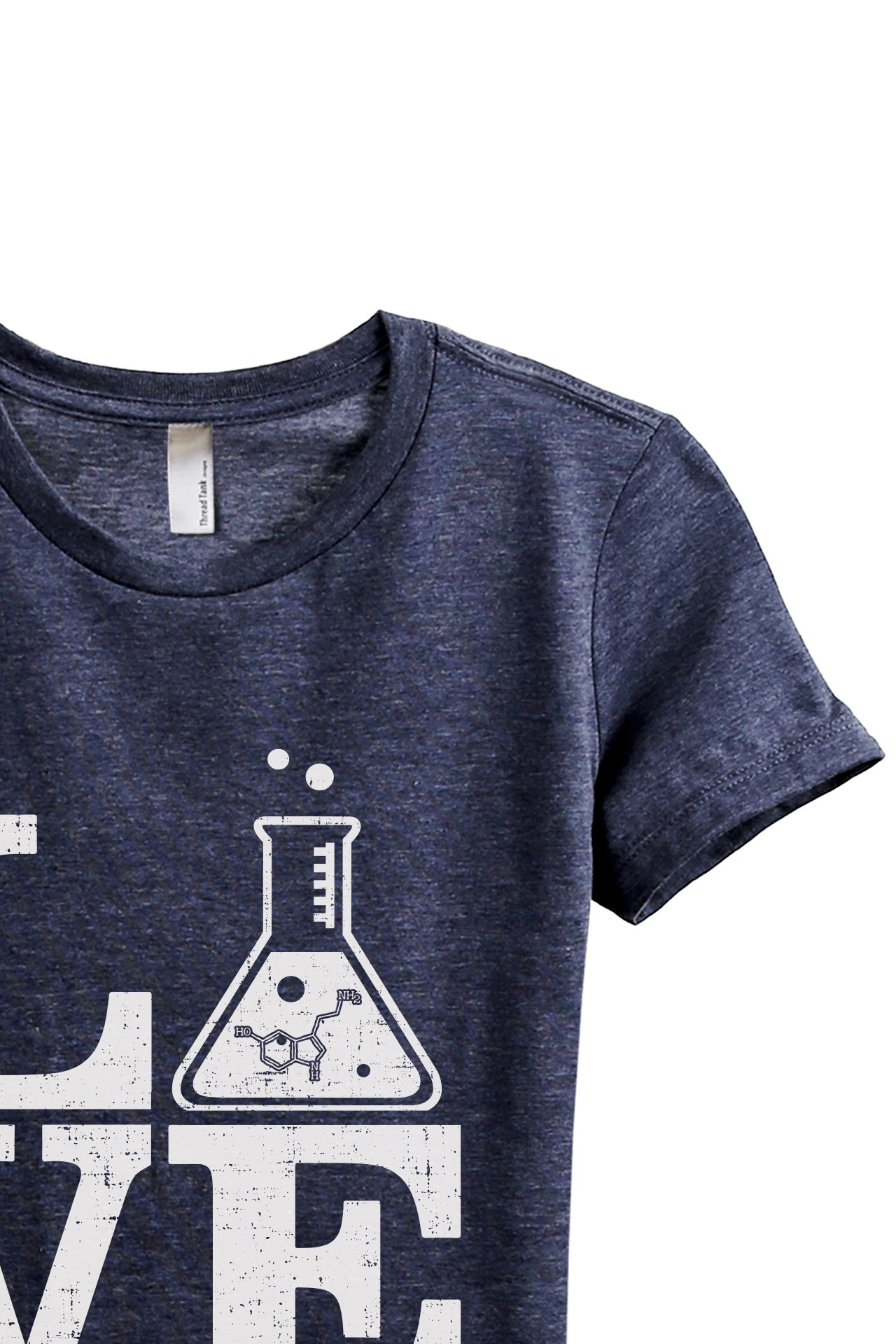 Teach Science LOVE Women's Relaxed Crewneck T-Shirt Top Tee Heather Navy