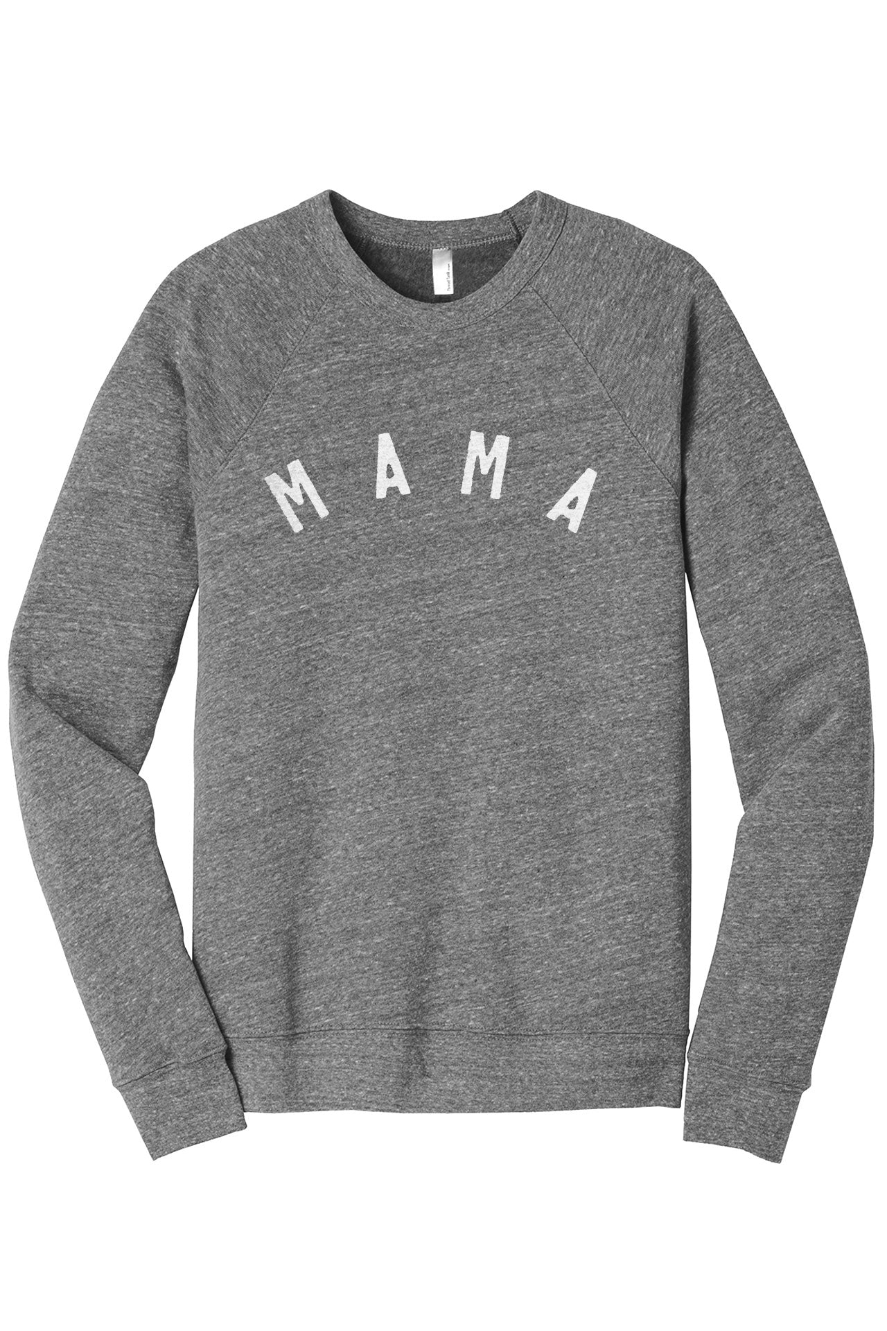 Simply Mama Women's Cozy Fleece Longsleeves Sweater Heather Grey Closeup Details