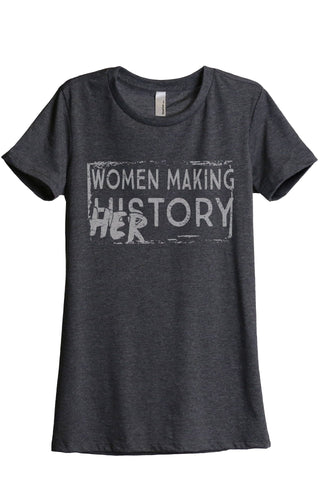 Women Making History HERstory Charcoal Printed Graphic Tee