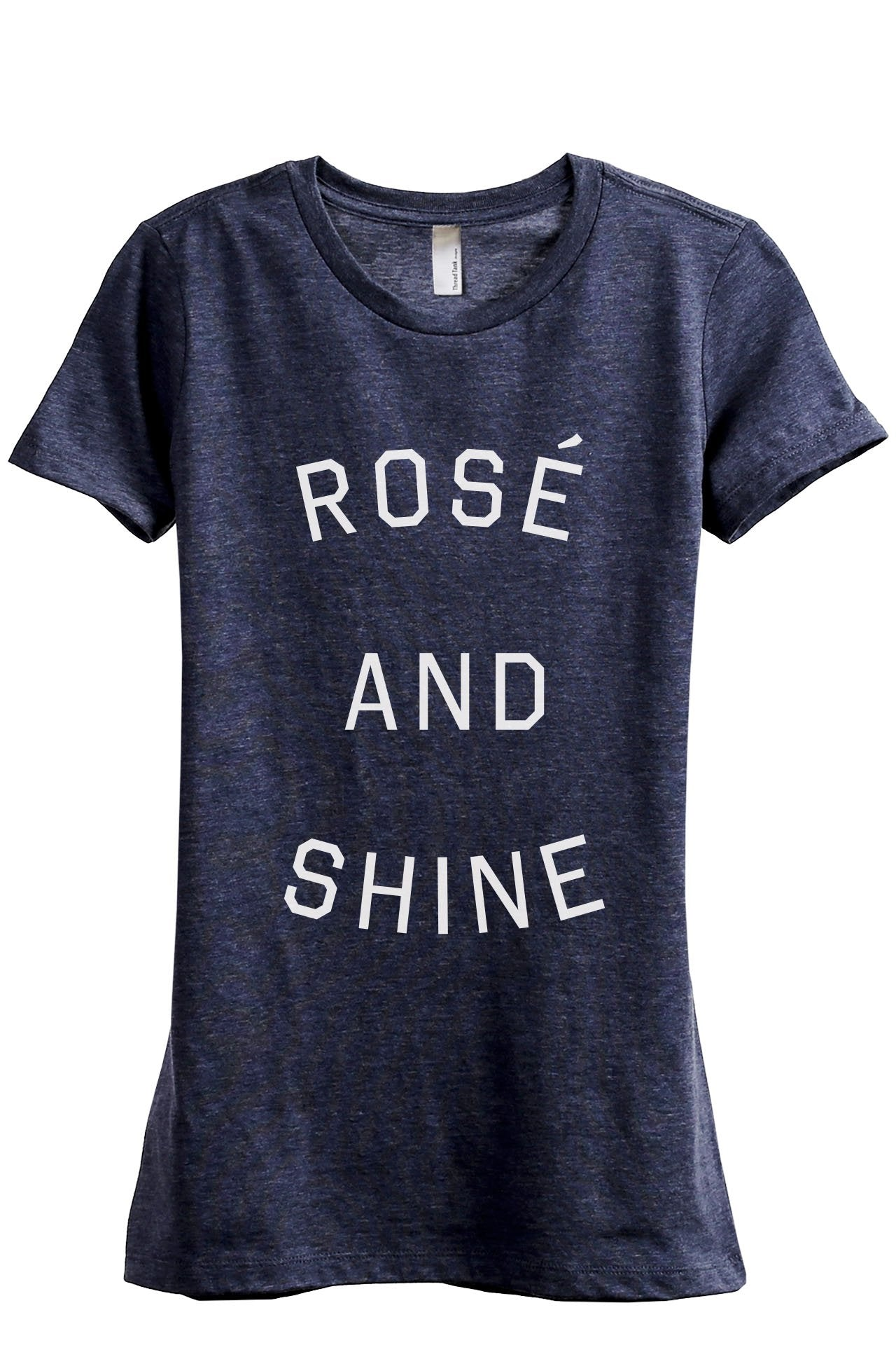 Rose And Shine Women's Relaxed Crewneck T-Shirt Top Tee Heather Navy