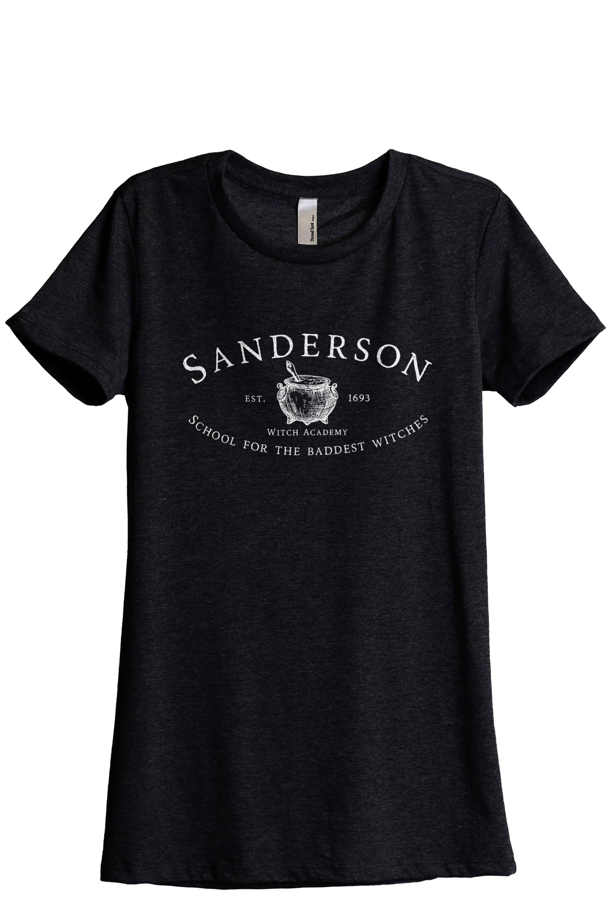 Sanderson Witch Academy Women's Relaxed Crewneck T-Shirt Top Tee Heather Black Grey