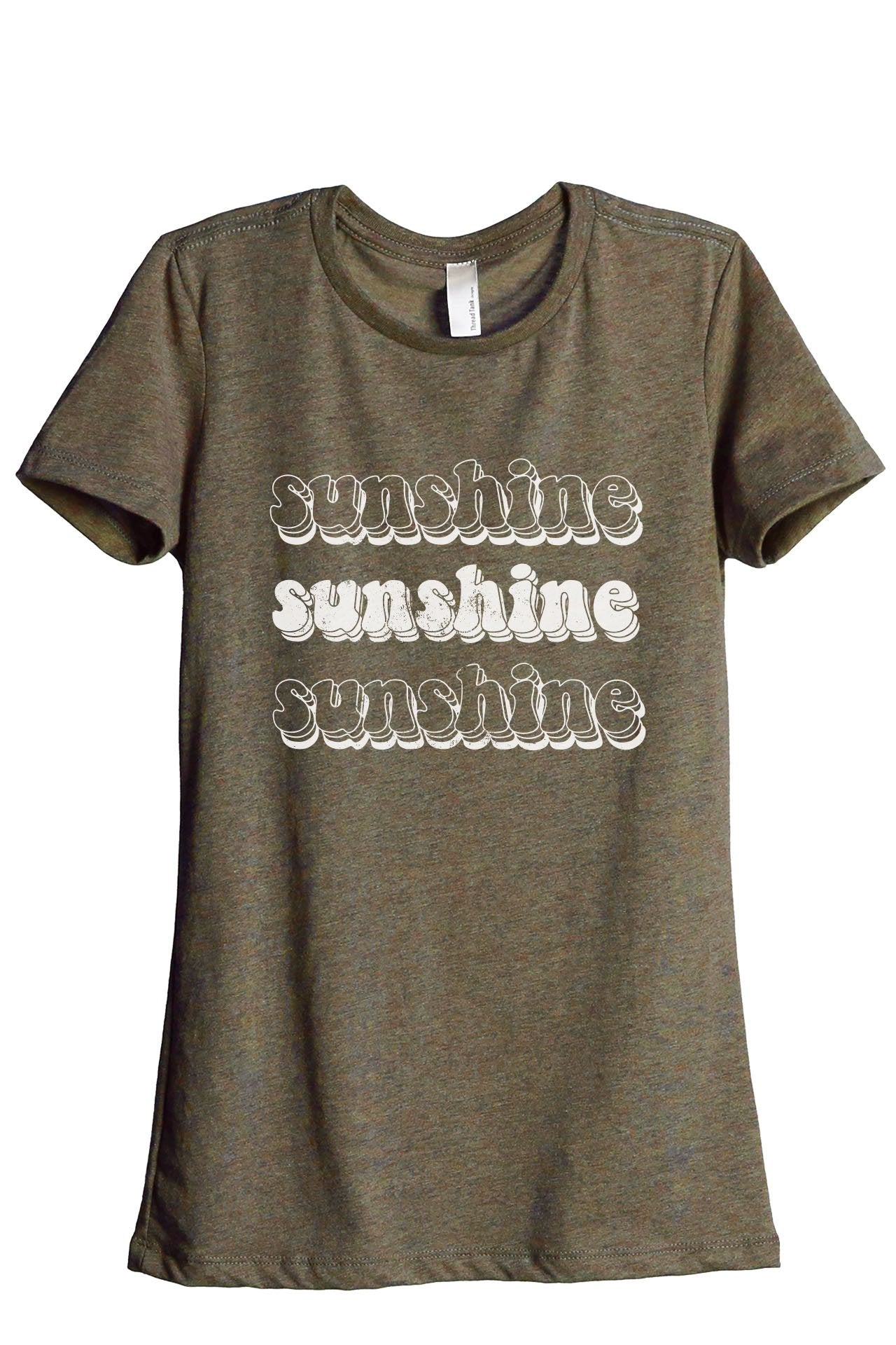 Sunshine Women's Relaxed Crewneck T-Shirt Top Tee Heather Sage
