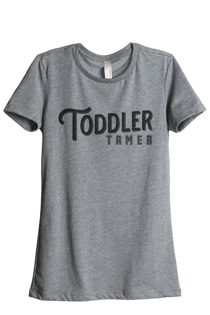 Toddler Tamer Women's Relaxed Crewneck T-Shirt Top Tee Heather Grey