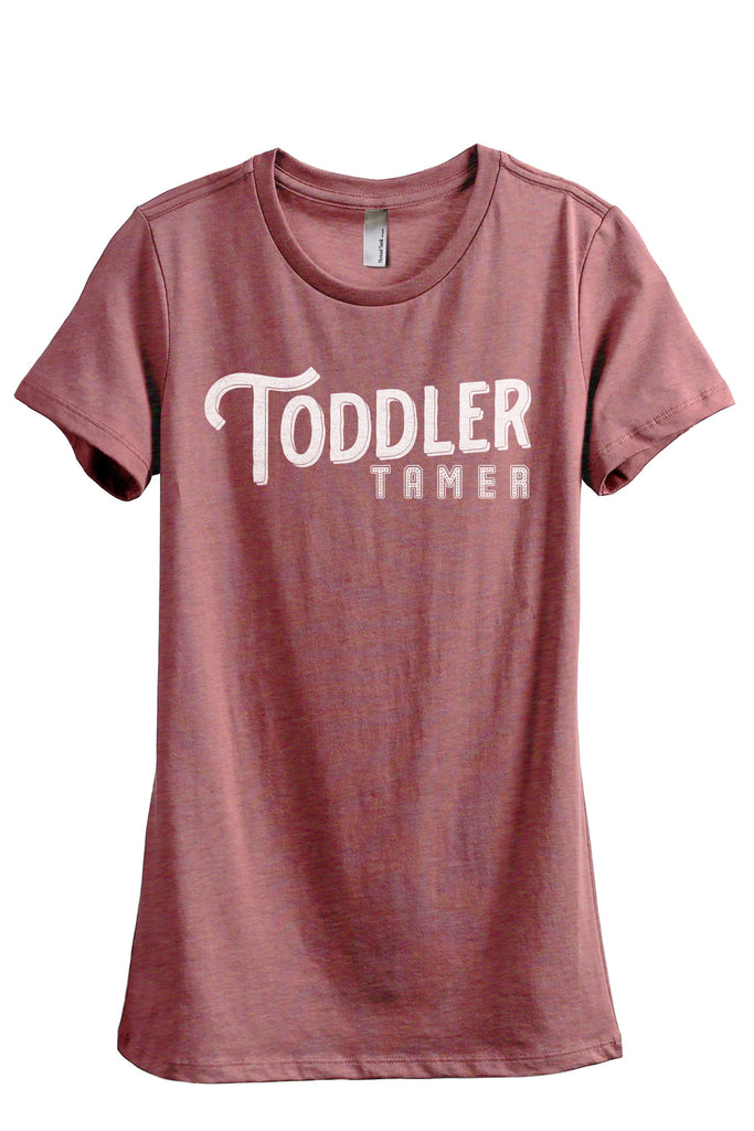 Toddler Tamer Women's Relaxed Crewneck T-Shirt Top Tee Heather Rouge