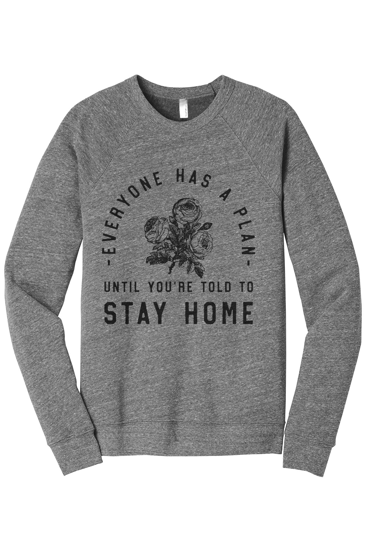 Until You're Told To Stay Home Women's Cozy Fleece Longsleeves Sweater Rouge Closeup Details
