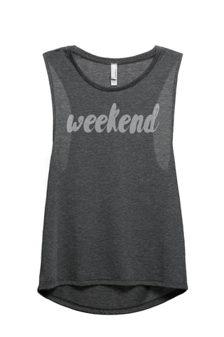 Weekend see other weekend Women Charcoal Grey Sleeveless Muscle Tank Top