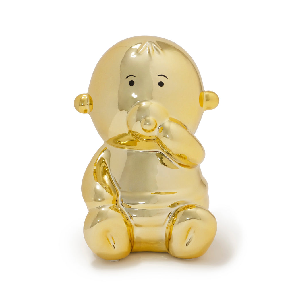 Baby Balloon Money Bank - Gold