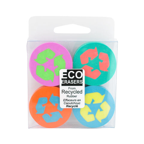 Made By Humans Eco Erasers Round (Set of 4)