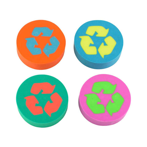 Eco Erasers Round (Set of 4)