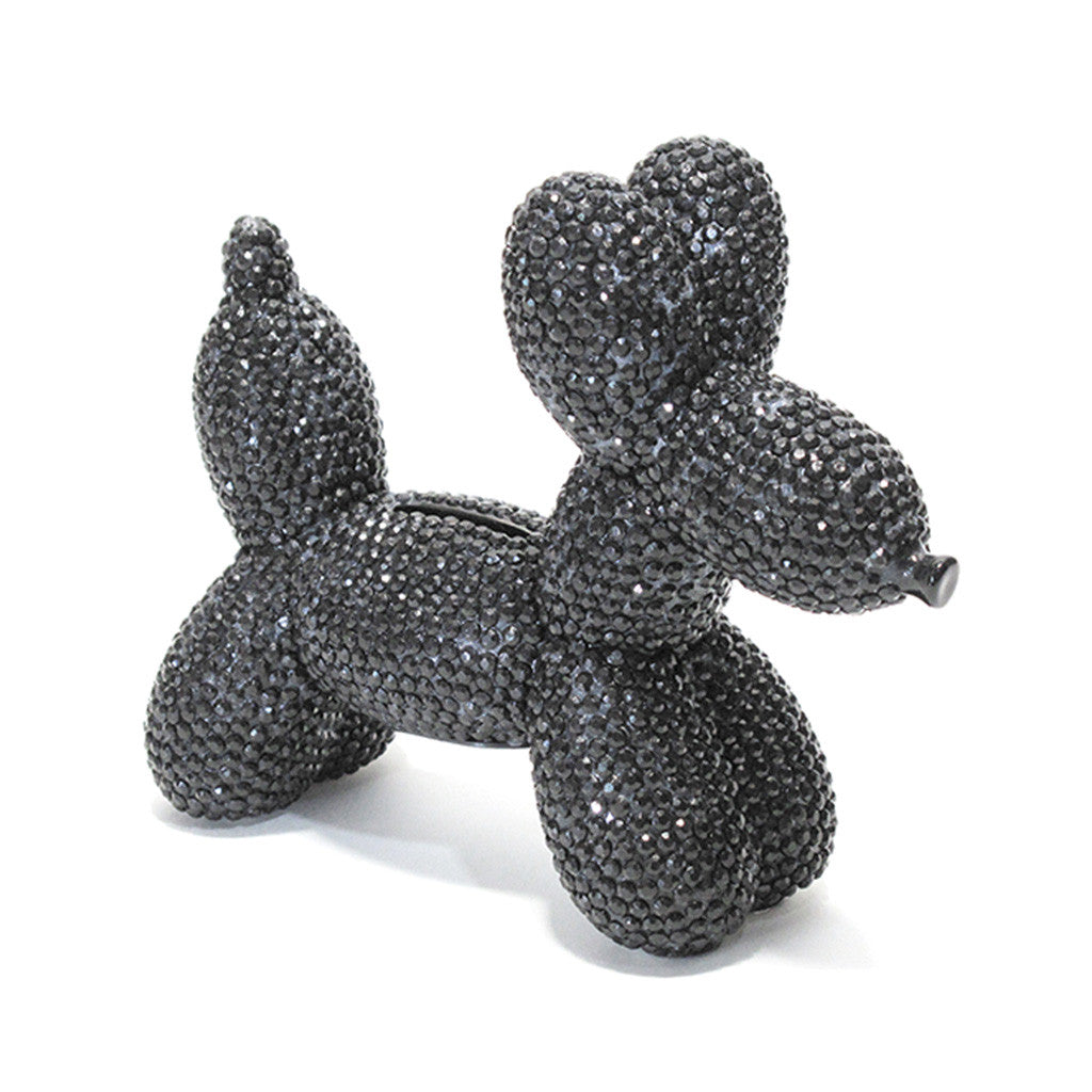 Glam Balloon Money Bank Dog