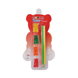 Gummy Bear Pencils (set of 4 with gummy bear pencil toppers)