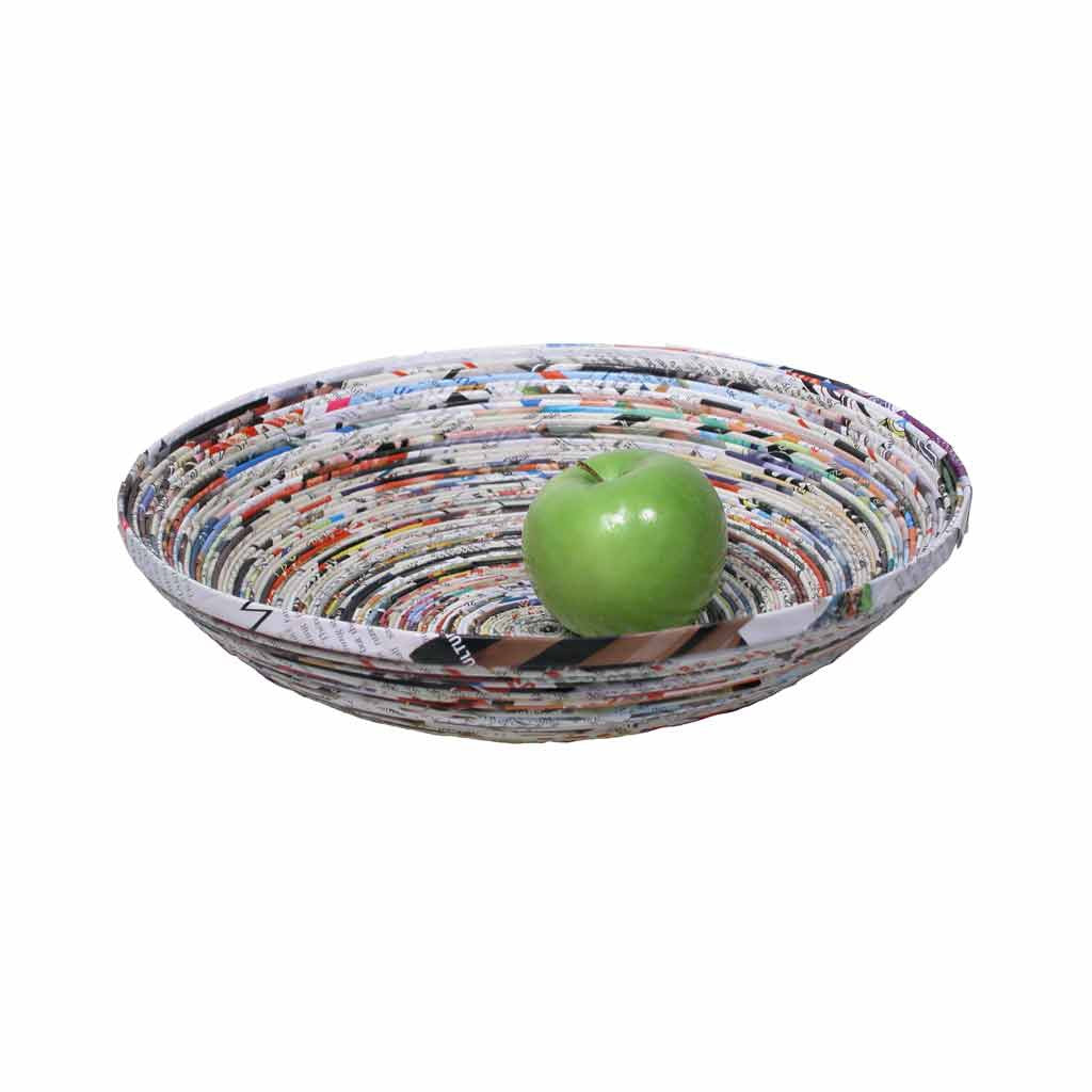 Recycled Paper Bowl (Multicolor)