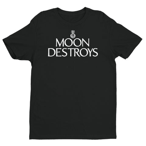 Moon Destroys Logo Short Sleeve T-shirt