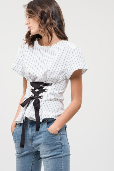 Corset Striped Top