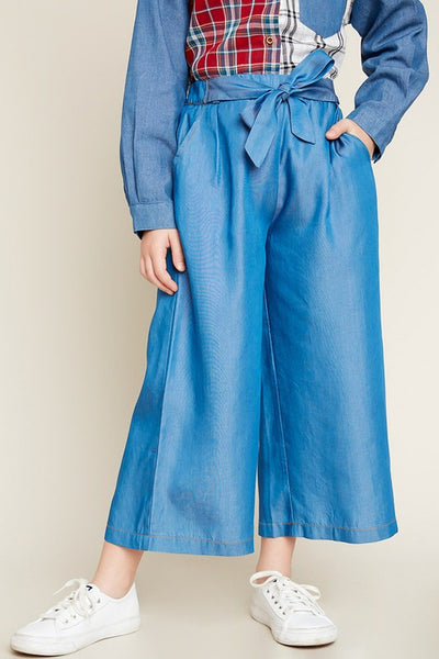 Girls Denim Culotte Pants