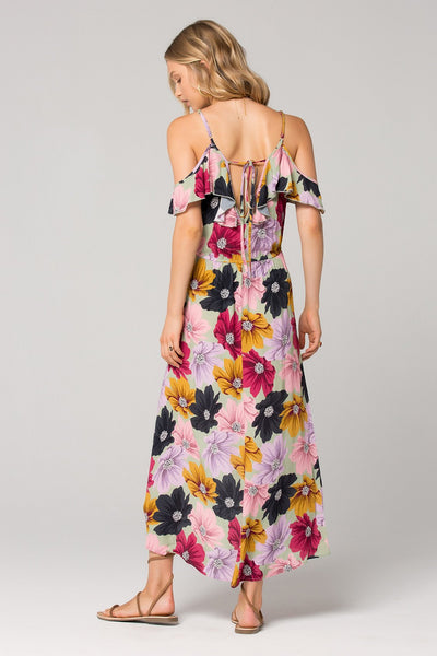 74099dfc0a8a Band of Gypsies London Floral Ruffle Dress – Trèscool