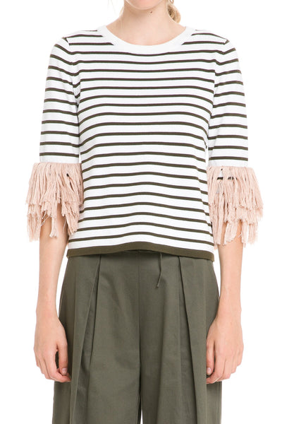 English Factory Stripe Knit Top