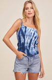 ASTR The Label Rumi Tie Dye Back Tie Top
