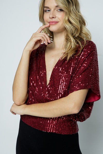 party sequin top