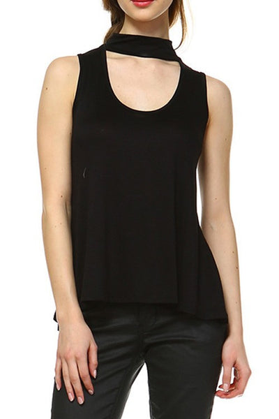 Black Choker Sleeveless Top