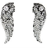 Angel Wing Pave Crystal Earrings