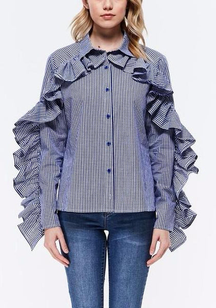 statement sleeves blouse