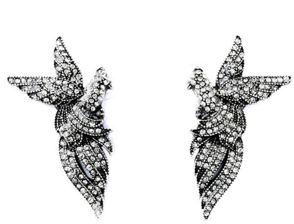 Crystal Bird Earrings