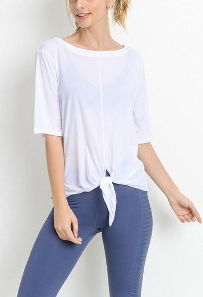 white activewear top