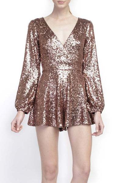 Line and Dot Aurora Sequin Romper