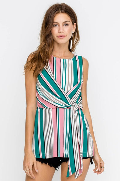 Aubry Striped Top