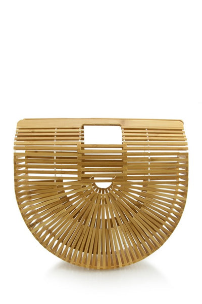 wood clutch handbag