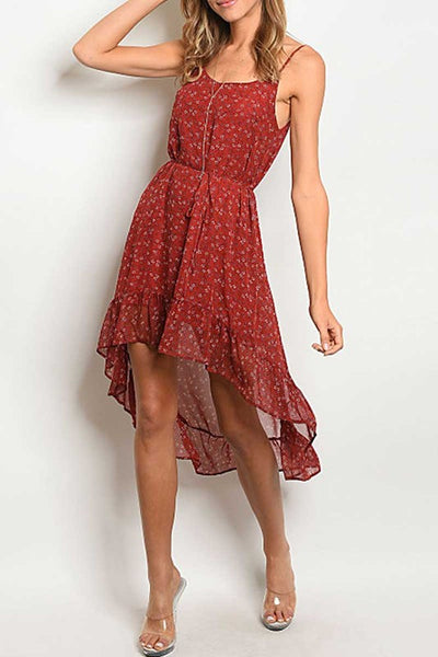 Endless Romance Burgundy Midi Dress