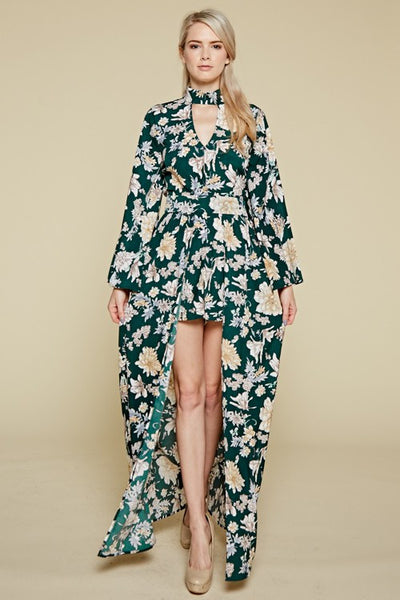 Women's Floral Maxi Short Dress