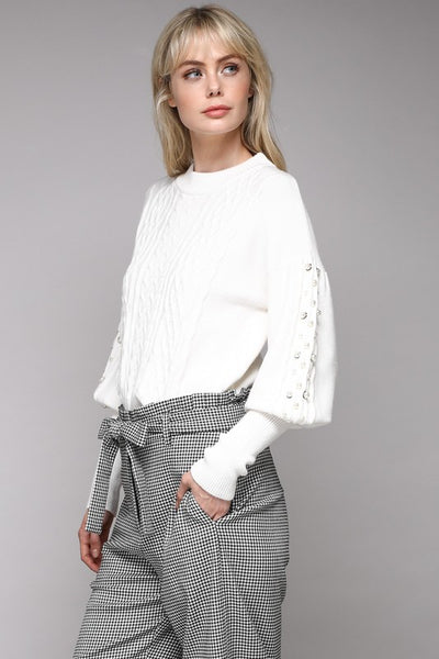 Do and Be Balloon Sleeve Sweater
