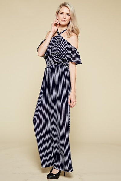 Woman Striped Jumpsuit