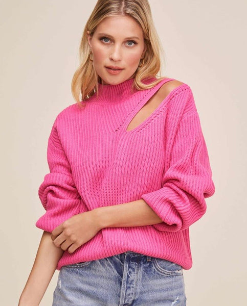 astr the label pink sweater