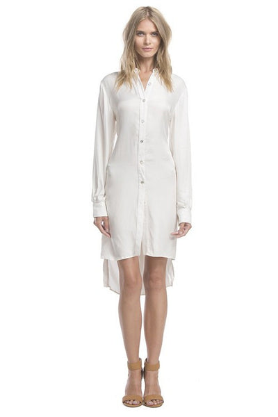 Line and Dot Twist Shirt Dress
