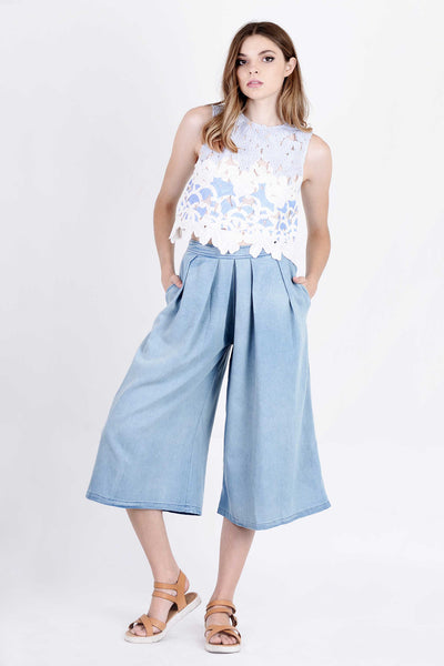 Chambray Culottes
