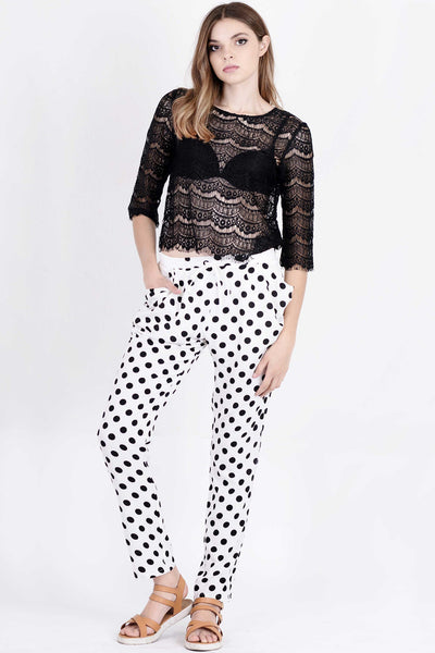 polka dot pants