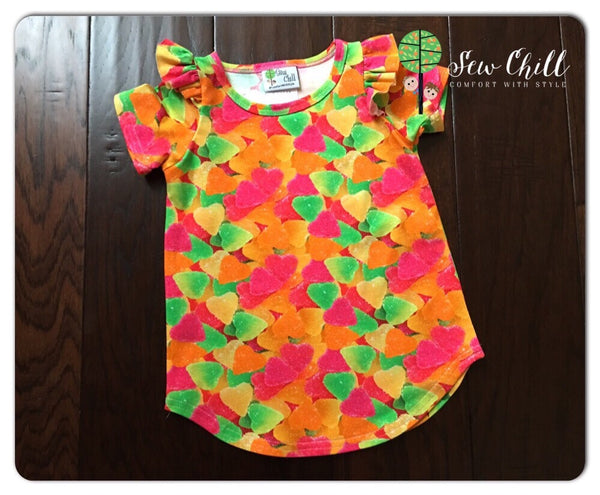 FLUTTER TUNIC - Gummy Hearts