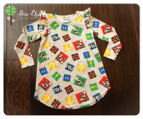 FLUTTER TUNIC - Game Time (4t)