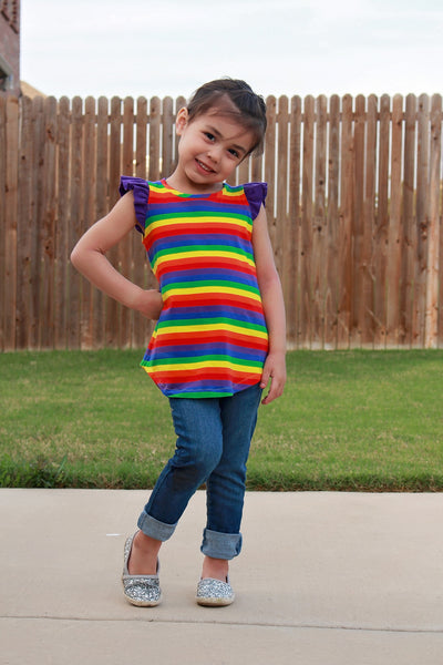 FLUTTER TUNIC - Over the Rainbow