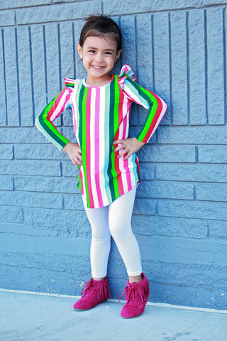 FLUTTER TUNIC - Candy Stripe