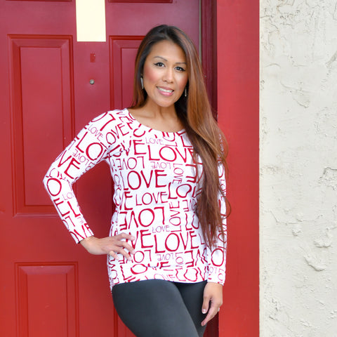 WOMENS TUNIC - Love Letters (XS)