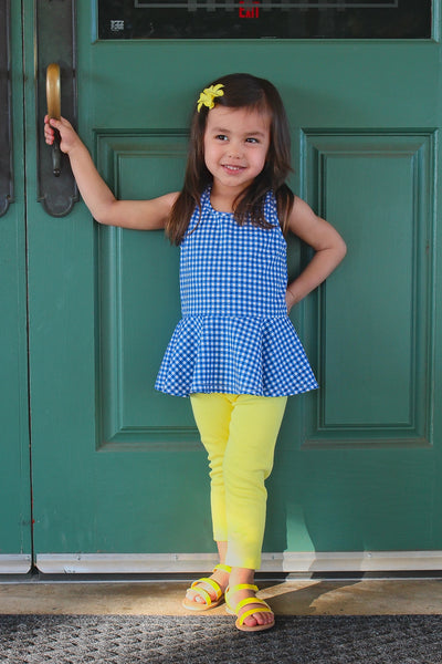 PEPLUM - Gingham and Blues