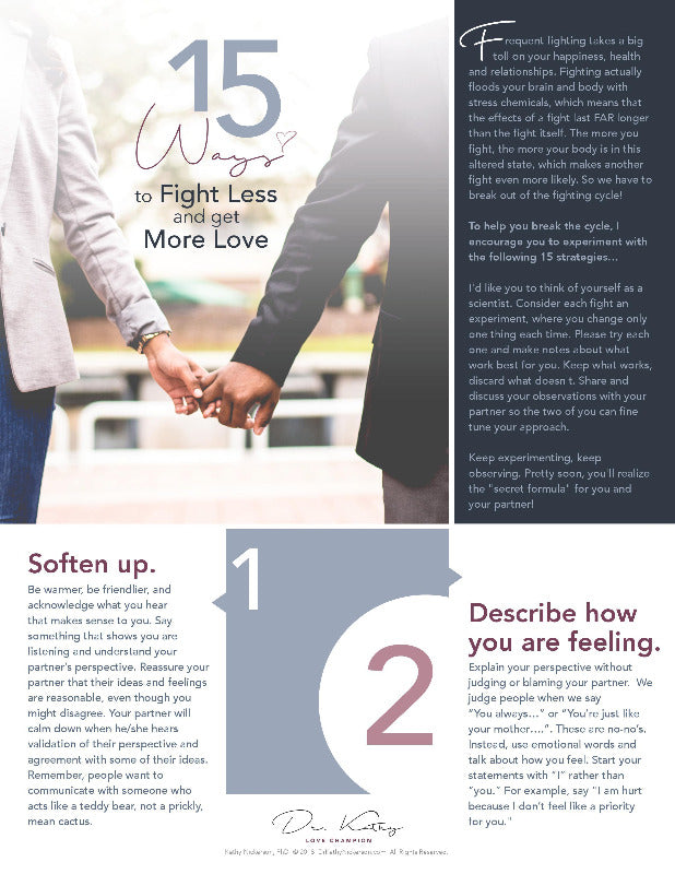 relationship advice - how to fight less guide page 1