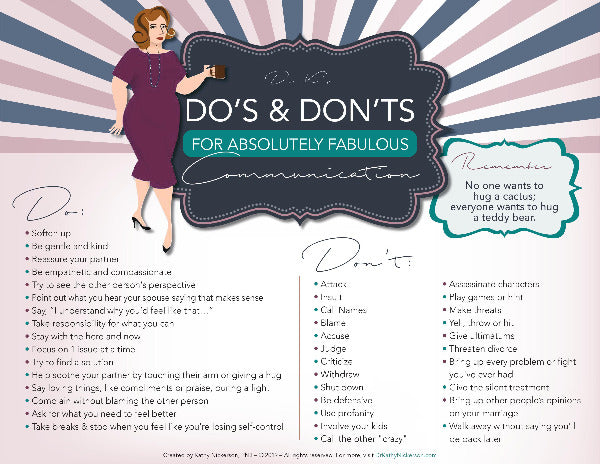 Dr. Kathy's Do's & Don'ts For Absolutely Fabulous Communication