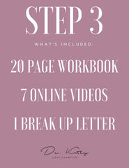 Healing From Infidelity - Step 3 Workbook + Videos