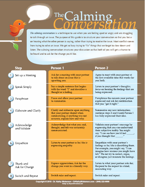 Calming Conversation Guide