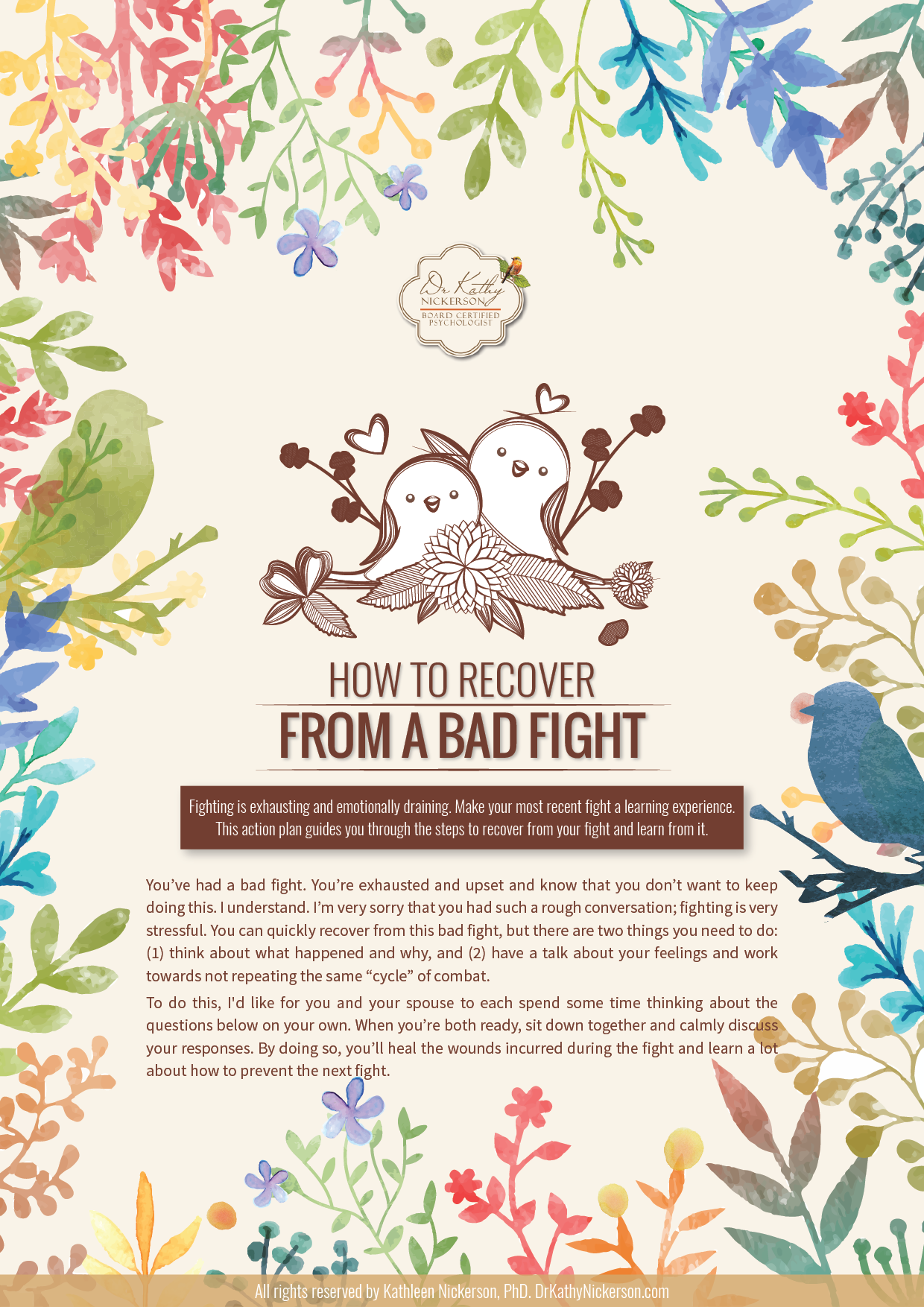 How To Recover From A Bad Fight